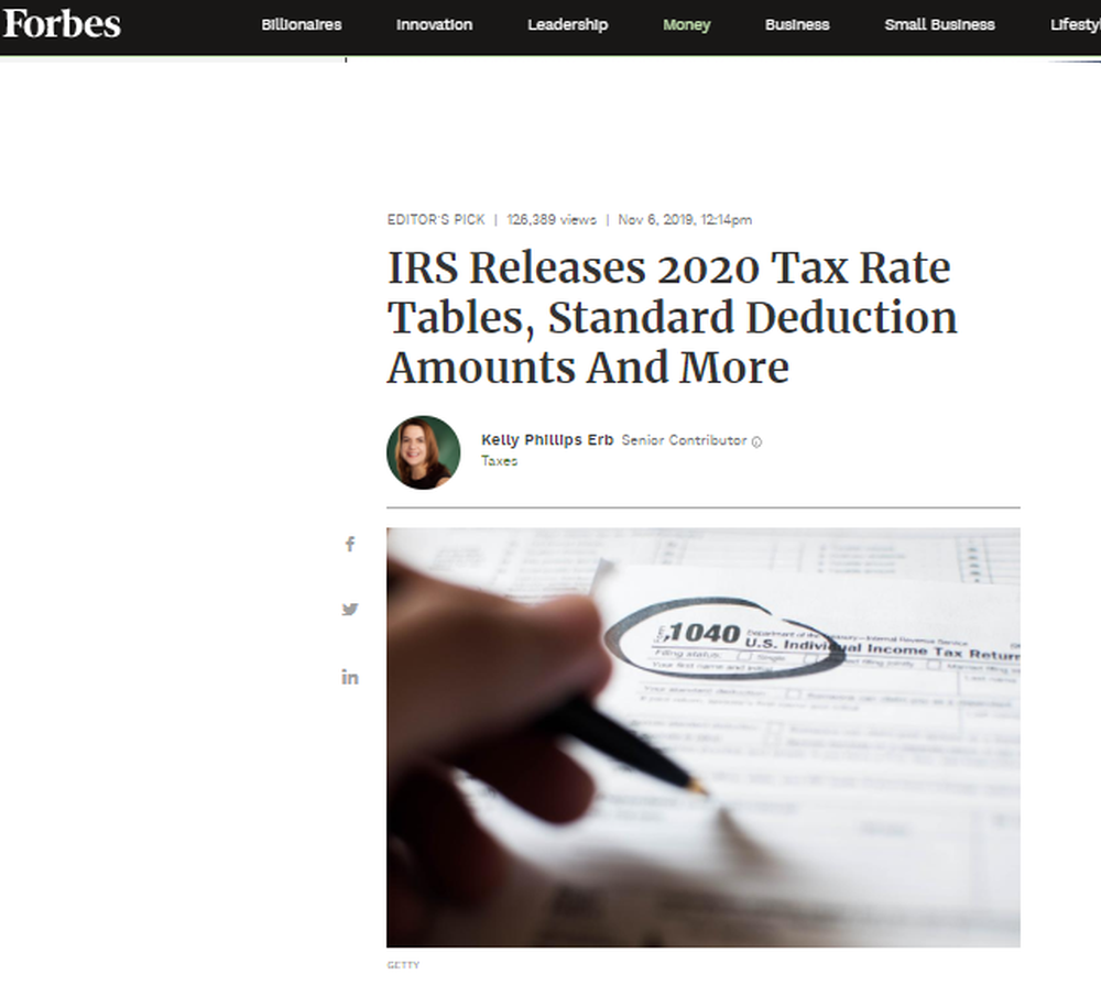 IRS Releases 2020 Tax Rate Tables  Standard Deduction Amounts And More.png