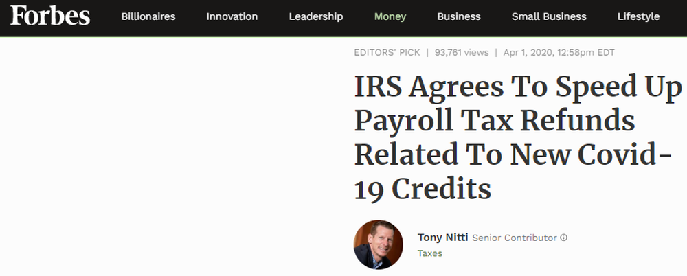 IRS Agrees To Speed Up Payroll Tax Refunds Related To New Covid-19 Credits.png