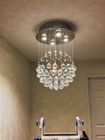 Chandelier Installation in Mississauga by H MAN ELECTRIC