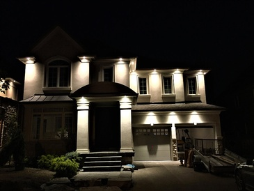 Outdoor Lighting by Electrical Contractors in Brampton - H MAN ELECTRIC