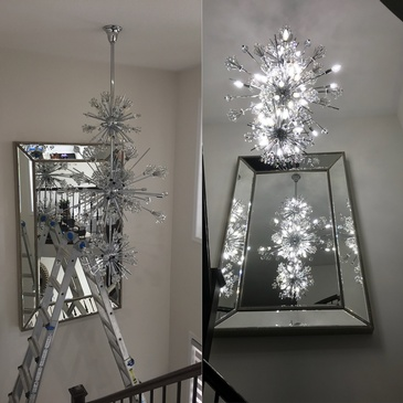 Chandelier Installation in North York by H MAN ELECTRIC