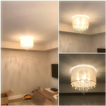 Chandelier Installation in Brampton by H MAN ELECTRIC