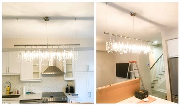 Chandelier Installation in Vaughan by H MAN ELECTRIC