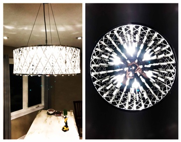 Chandelier Installation in Brantford by H MAN ELECTRIC