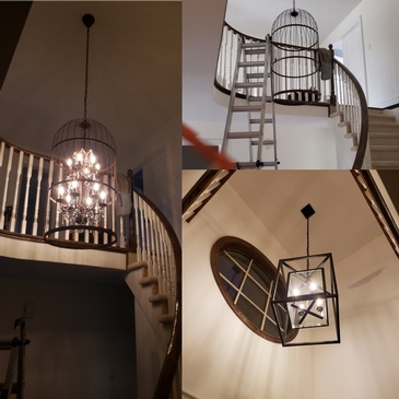 Chandelier Installation in Milton by H MAN ELECTRIC