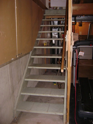 Basement Staircase Before Renovation Services by Method Residential Design