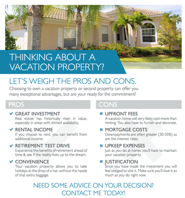 Purchase a vacation property?