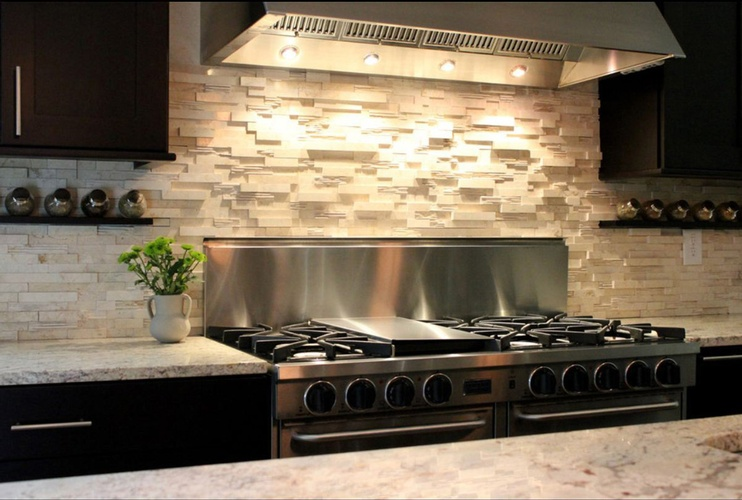 Modern Kitchen Backsplash Design by Old Castle Home Design Center