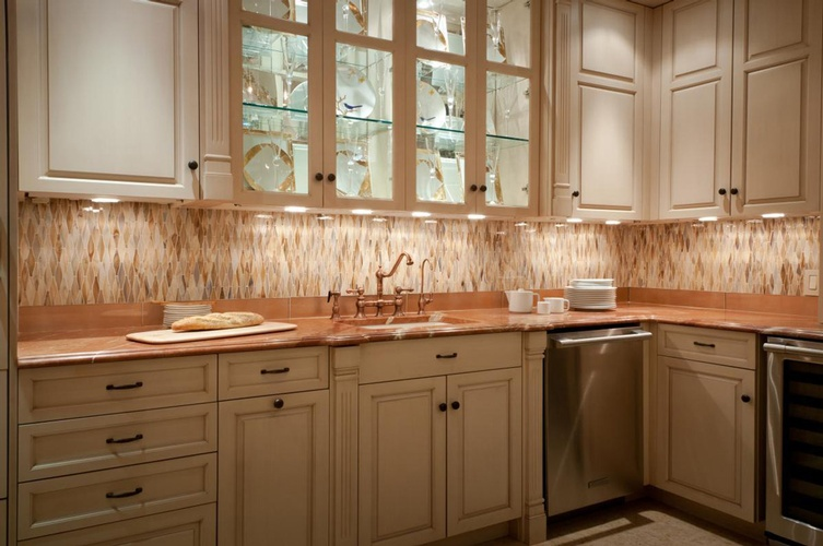 Kitchen Backsplash tiles by Old Castle Home Design Center