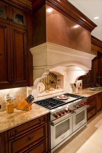 Contemporary Kitchen Backsplash Design by Old Castle Home Design Center