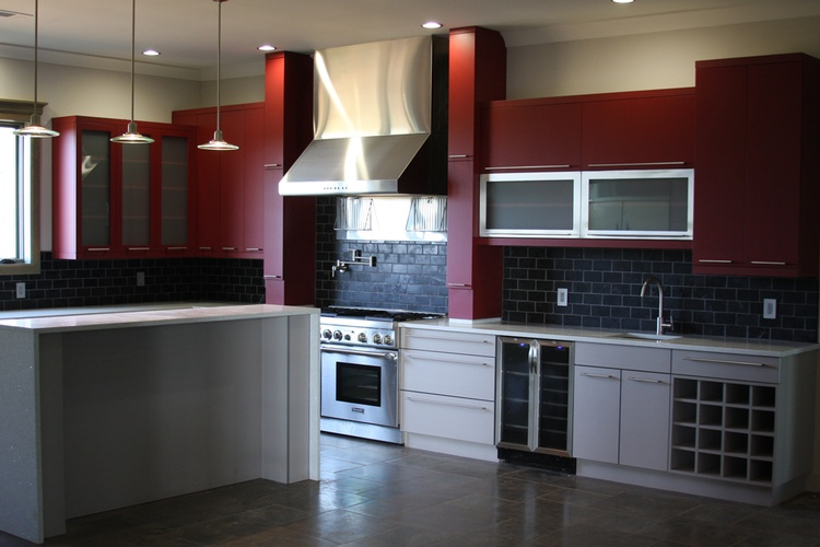 Red Kitchen Cabinets Atlanta - Old Castle Home Design Center