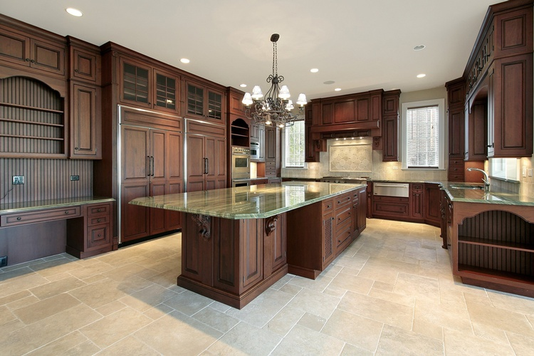Brown Kitchen Cabinets Atlanta - Old Castle Home Design Center