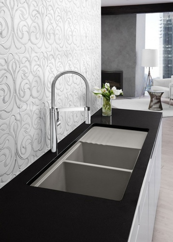 Stainless Steel Kitchen Faucet by Old Castle Home Design Center in Atlanta