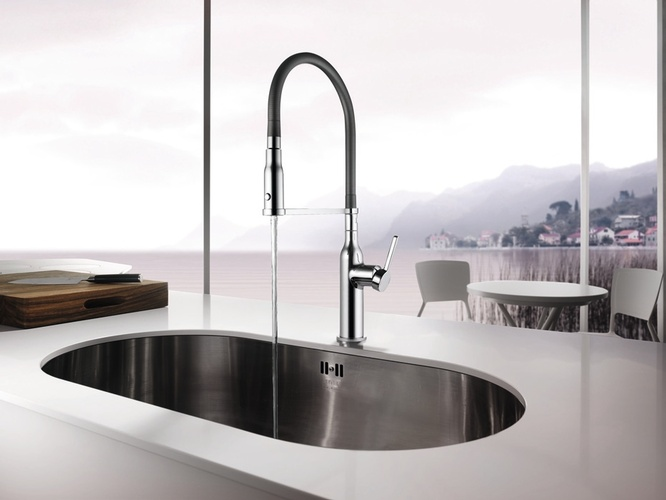 Gray Stainless Steel Faucet by Old Castle Home Design Center in Atlanta
