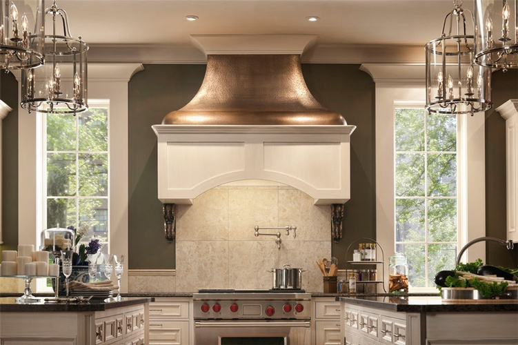 Stone Kitchen Hood by Old Castle Home Design Center