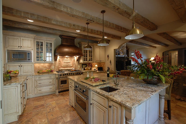 Modern Wood Kitchen Hood Design by Old Castle Home Design Center