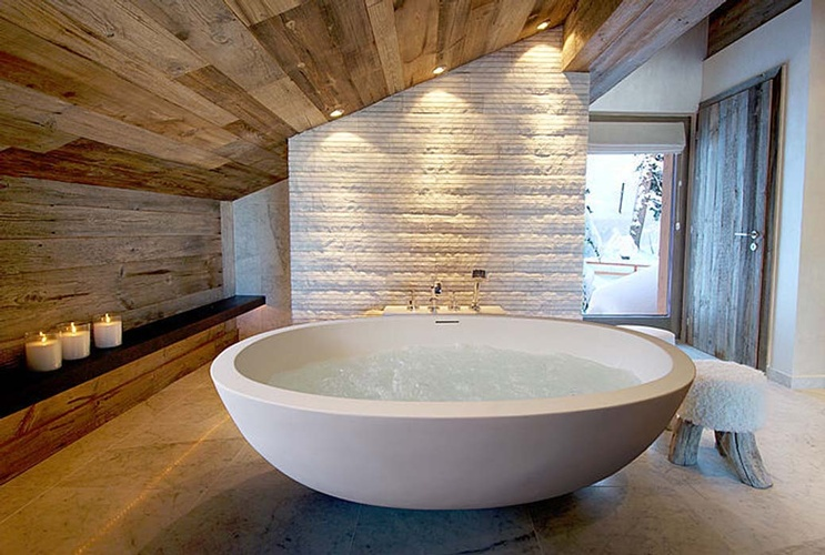 Freestanding Whirlpool Tub Design by Old Castle Home Design Center in Atlanta GA