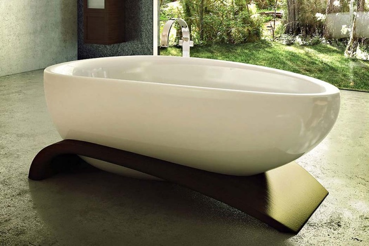 Beautiful white Acrylic Bathtub by Old Castle Home Design Center