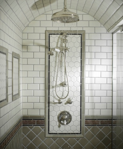 Contemporary Ceramic Shower Tiles in Atlanta by Old Castle Home Design Center