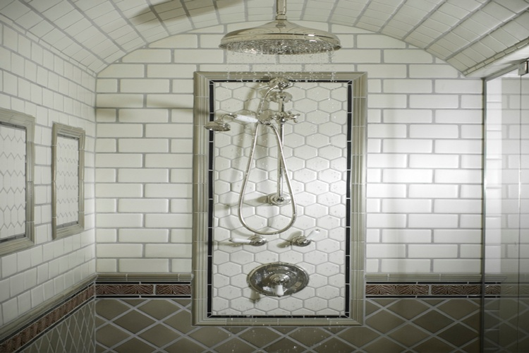 Best Shower Tiles Design by Old Castle Home Design Center in Atlanta