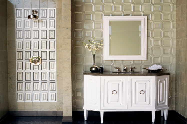 Textured Bathroom Tiles in Atlanta by Old Castle Home Design Center