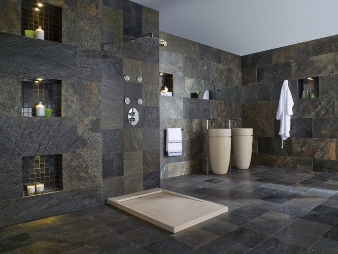 Textured Wall Tiles for Bathroom by Old Castle Home Design Center