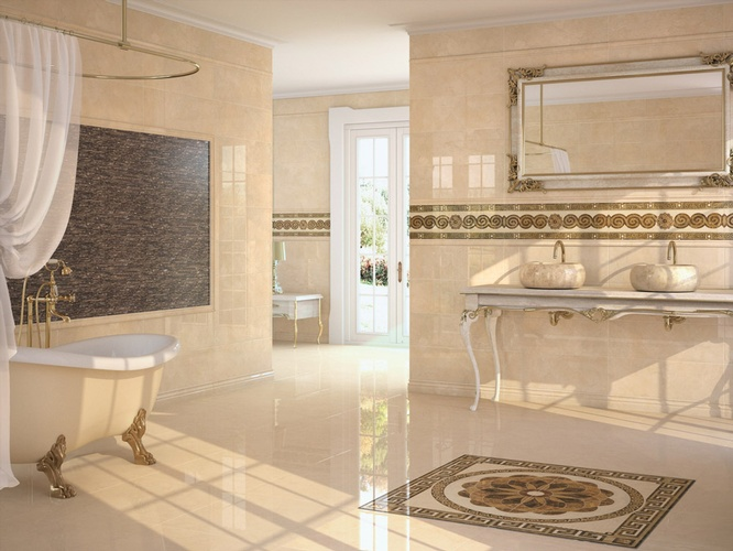 Porcelain Wall and Floor Tiles by Old Castle Home Design Center