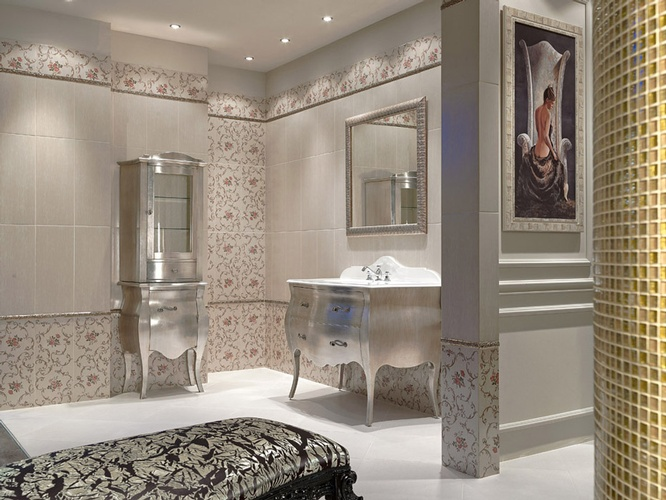 Ceramic Bathroom Flooring in Atlanta by Old Castle Home Design Center