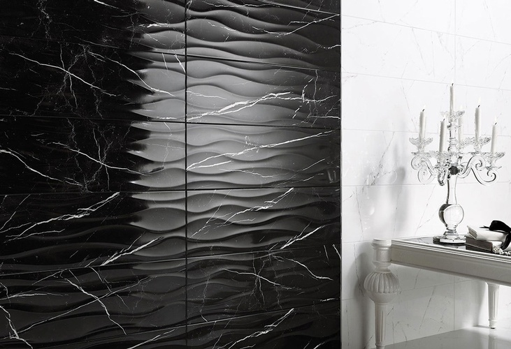 Black Porcelain Bathroom Tiles by Old Castle Home Design Center