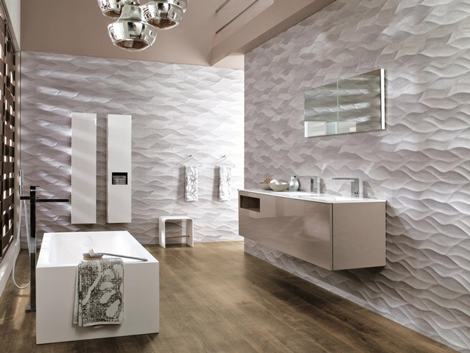 3D Porcelain Wall tiles for Bathroom by Old Castle Home Design Center