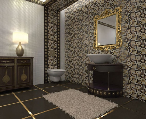 Mosaic Glass Tiles Bathroom Wall by Old Castle Home Design Center