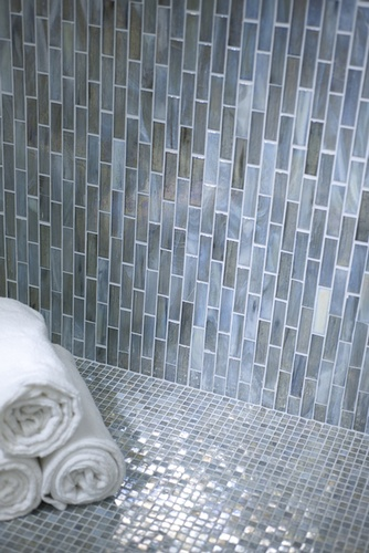 Mosaic Tile Flooring for Shower Room by Old Castle Home Design Center