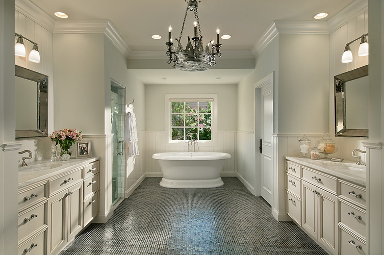 Glass Tiles Flooring for Bathroom by Old Castle Home Design Center