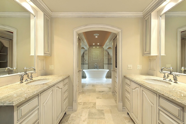 Polished Natural Stone Tiles by Old Castle Home Design Center