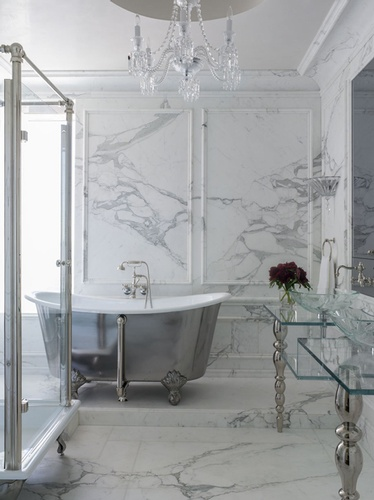Polished Marble Tiles in Atlanta by Old Castle Home Design Center