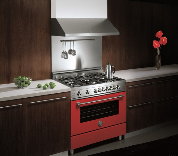 Red Kitchen Stove - Kitchen Appliances by Old Castle Home Design Center