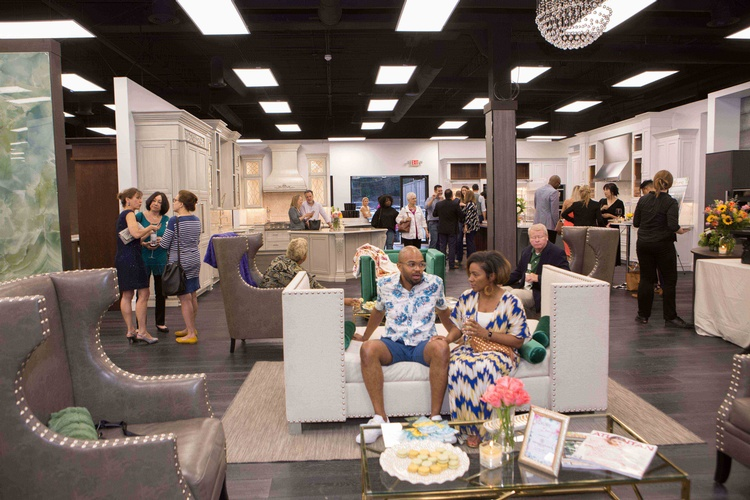 Customers at Old Castle Home Design Center Showroom