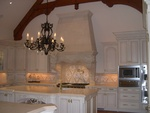 Sculpted Stone Kitchen Hood Design by Old Castle Home Design Center