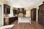 Wood Kitchen Hood Design by Old Castle Home Design Center