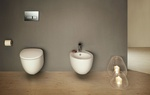 Wall Mounted Western Toilet and Basin - Bathroom Accessories by Old Castle Home Design Center
