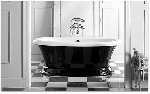 Black Freestanding Solid Surface Bathtub by Old Castle Home Design Center