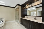 Mirrored Bathroom Vanity Cabinets Design by Old Castle Home Design Center