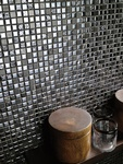 Metal Finish Mosaic Tiles Wall by Old Castle Home Design Center