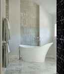 Natural Stone Bathroom Design by Old Castle Home Design Center