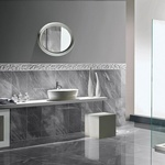 Grey Porcelain Bathroom Tiles in Atlanta by Old Castle Home Design Center