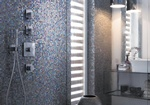 Best Glass Mosaic Tiles for Shower room by Old Castle Home Design Center