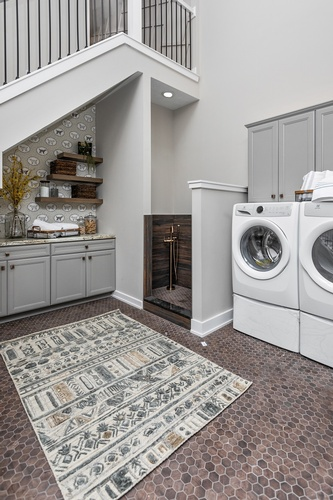 Laundry Room Interior Design by Luxe Home Interiors - Interior Designer Indianapolis