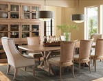 Rustic Dining Room Interior Design Services Cicero by Luxe Home Interiors