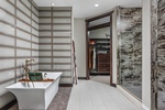 Modern Bathroom Interior Design Services Columbus IN by Luxe Home Interiors
