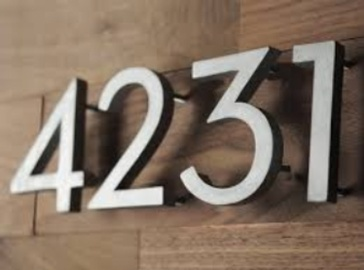 CURB APPEAL- HOUSE NUMBERS